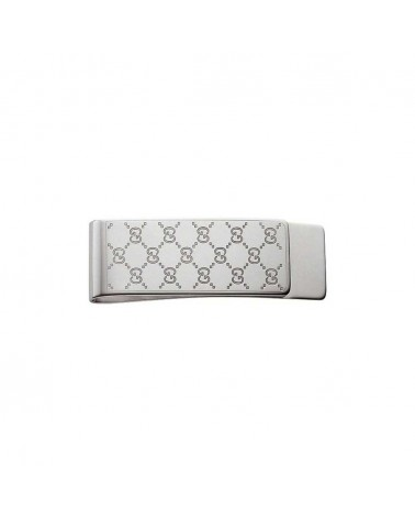 GUCCI Silver money clip with double GG