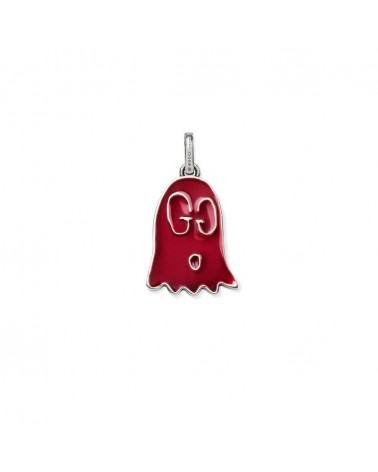 GUCCI Ghost pendant with red enamel