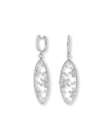 CAPECE GIOIELLIERI Oval flower pendant earrings