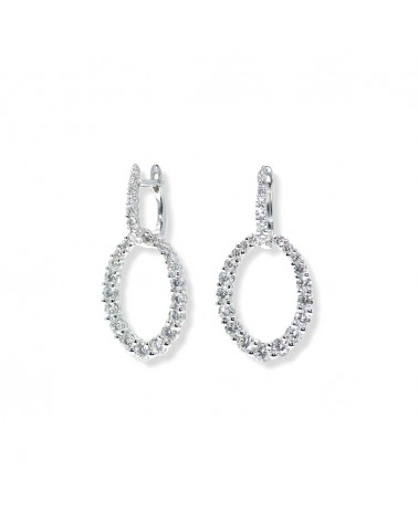 CAPECE GIOIELLIERI Oval pendant earrings with diamonds