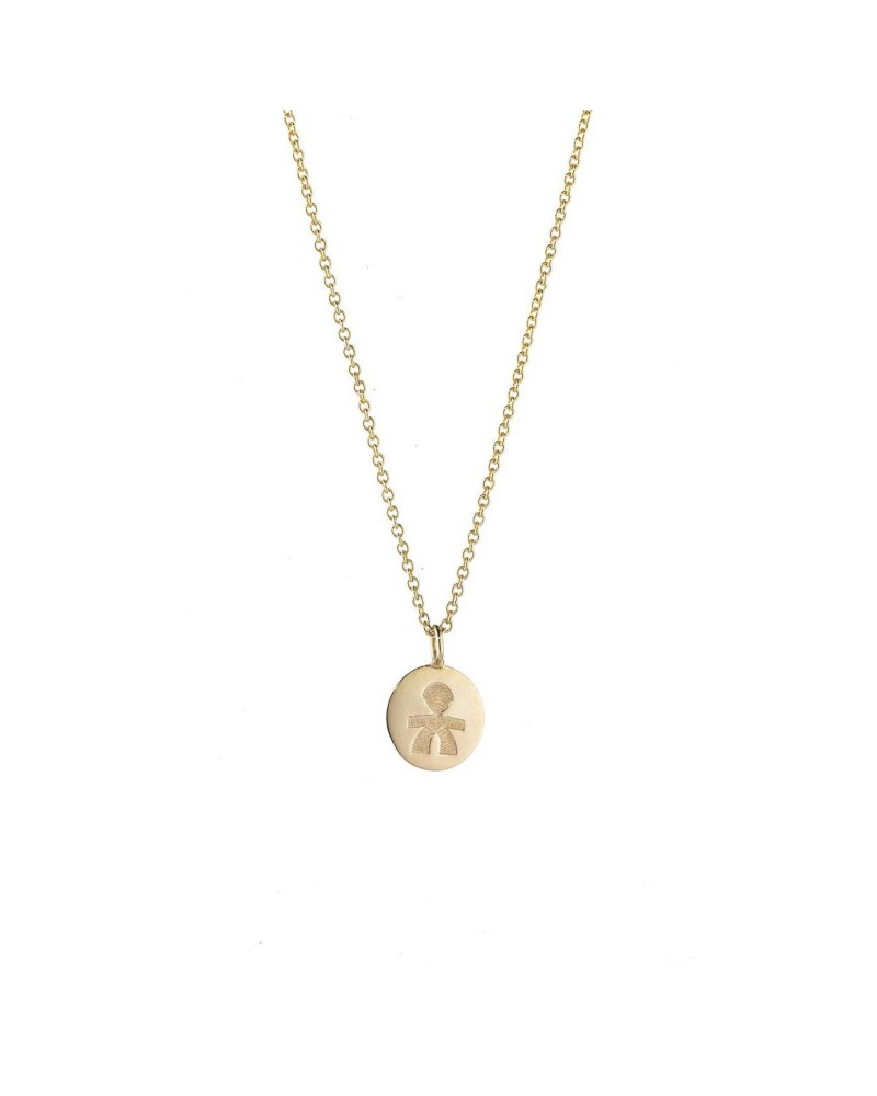 Le BEVE' CUDDLES YELLOW GOLD MALE NECKLACE