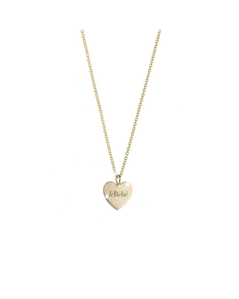 LE BEBE' CUDDLES HEART YELLOW GOLD NECKLACE