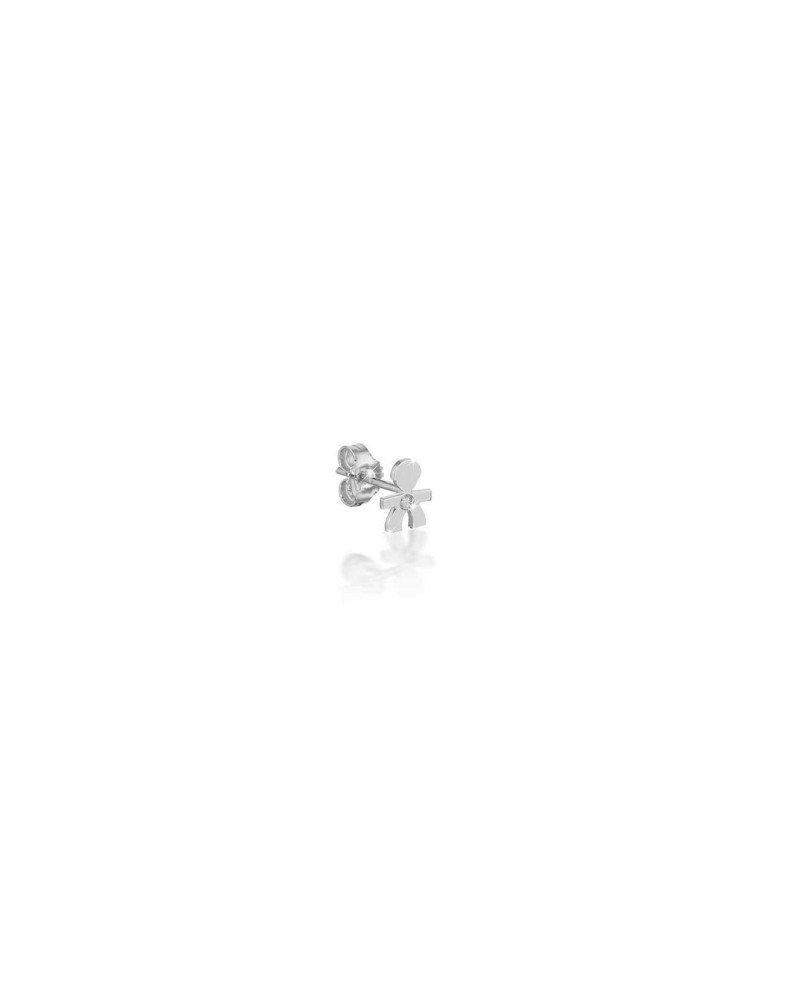 CRUMBS SINGLE EARRING MALE IN WHITE GOLD