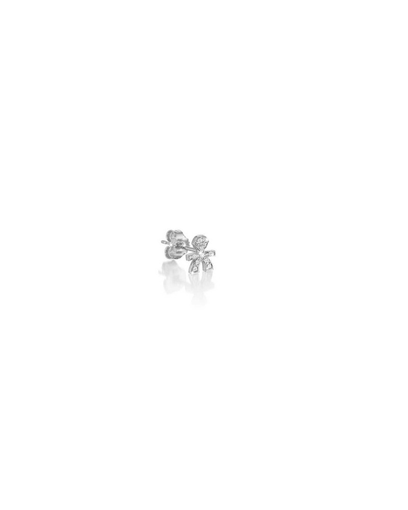 CRUMBS SINGLE EARRING MALE IN WHITE GOLD AND PAVÉ