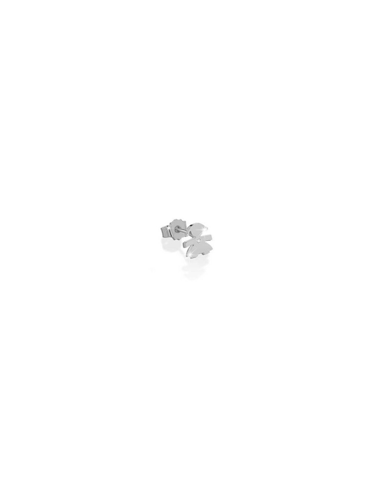 CRUMBS SINGLE EARRING FEMALE IN WHITE GOLD
