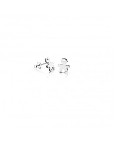 CLASSIC MALE EARRINGS WHITE GOLD