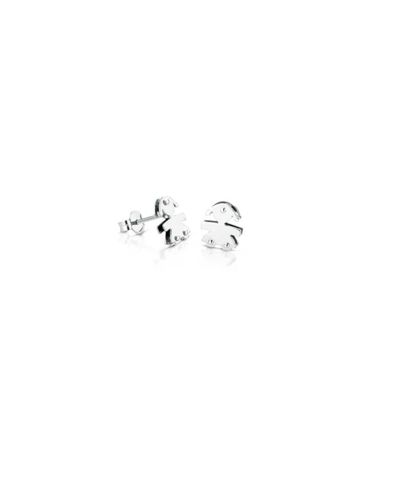 CLASSIC FEMALE EARRINGS WHITE GOLD