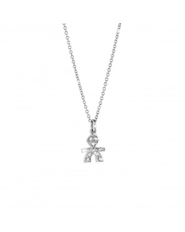 CRUMBS MALE PENDANT IN WHITE GOLD AND PAVÉ