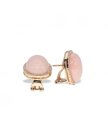 CAPECE GIOIELLIERI Classic earrings with pink coral