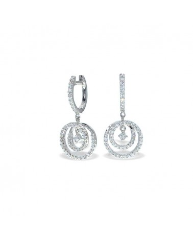 CAPECE GIOIELLIERI vortex earrings with diamonds