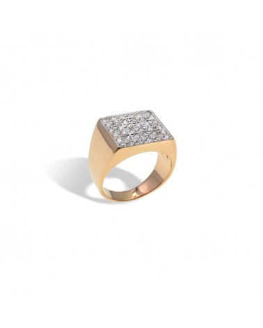 CAPECE GIOIELLIERI Chevalier Ring With Pavè 18kt.