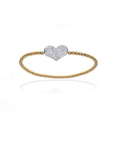 CAPECE GIOIELLIERI Heart bracelet with diamonds