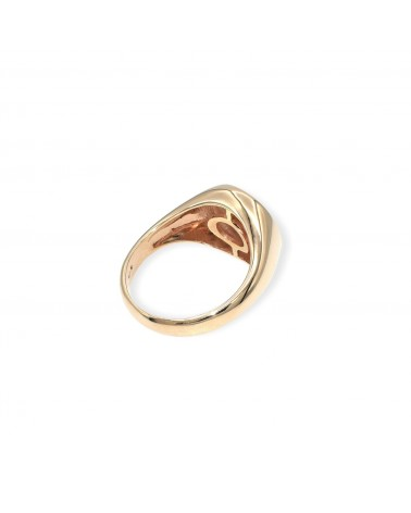CAPECE GIOIELLIERI Chevalier ring with letter C 9kt.
