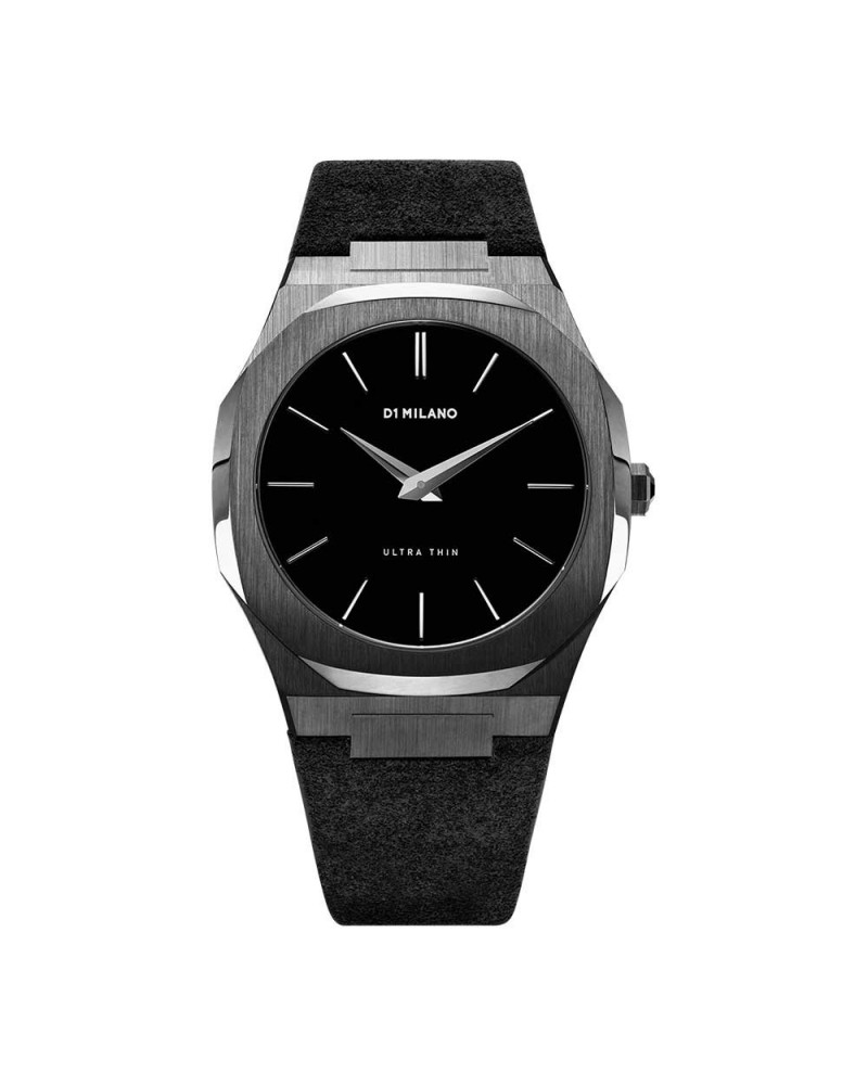D1MILANO ULTRA THIN SUEDE 40 MM VOLCANO BLACK