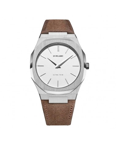D1MILANO ULTRA THIN SUEDE LEATHER 40 MM ESPRESSO FW19