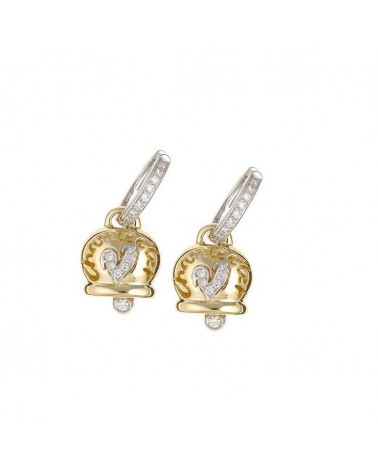 CHANTECLER Medium earrings in yellow gold