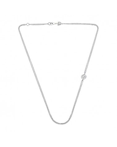 CHANTECLER Double necklace in white gold