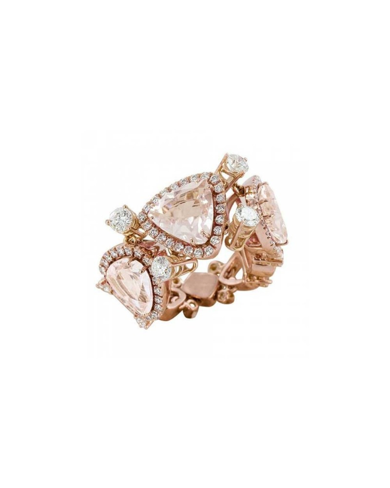 CHANTECLER Ring in pink and morganite
