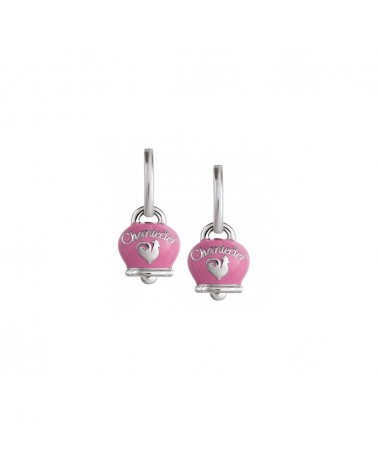 CHANTECLER Campanella earrings in silver and pink enamel