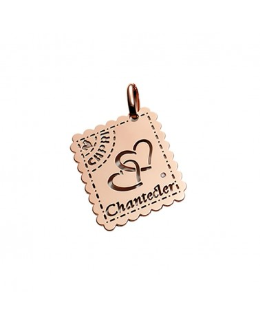 CHANTECLER Love letters pendant in rose gold