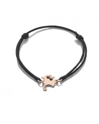 CHANTECLER Small manta ray bracelet in rose gold