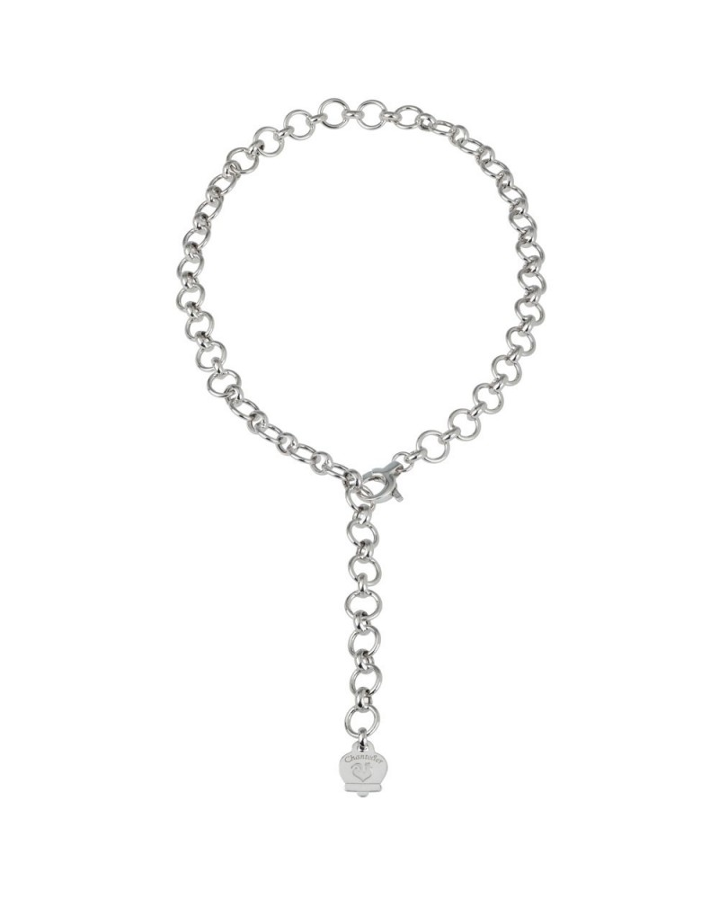 CHANTECLER Silver necklace 45 cm oval and round links