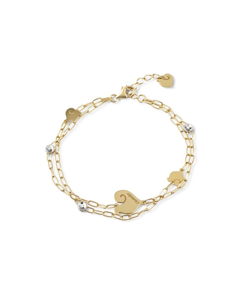 CHANTECLER Two-wire bracelet with four symbols
