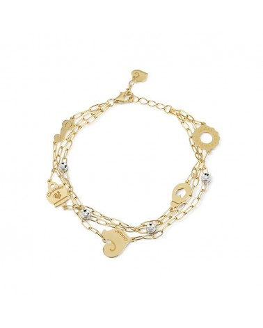 CHANTECLER Three-strand bracelet with six symbols