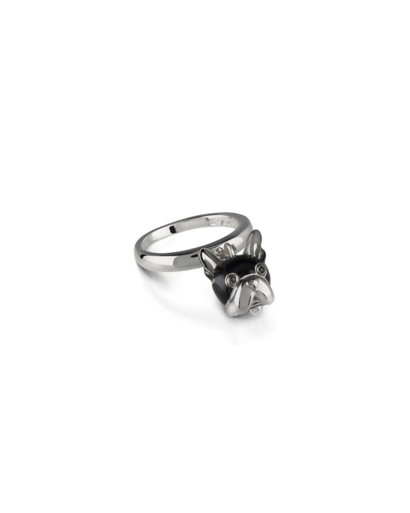 CHANTECLER Silver dog bell ring