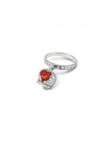 CHANTECLER Micro campanella ring in white gold