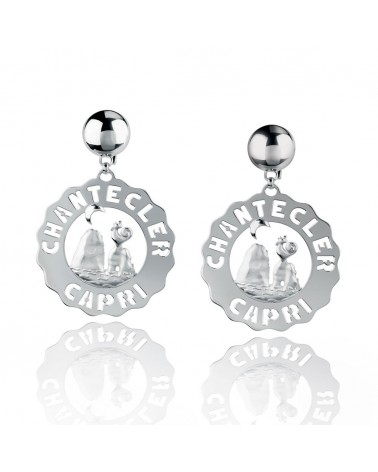 CHANTECLER Large stacks earrings in silver