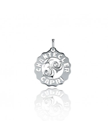 CHANTECLER Small rooster pendant in silver
