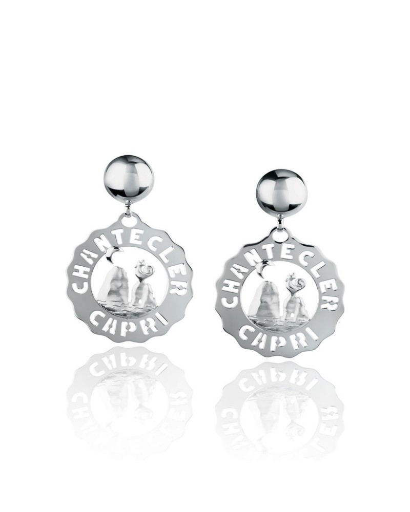 CHANTECLER Small stacks earrings in silver