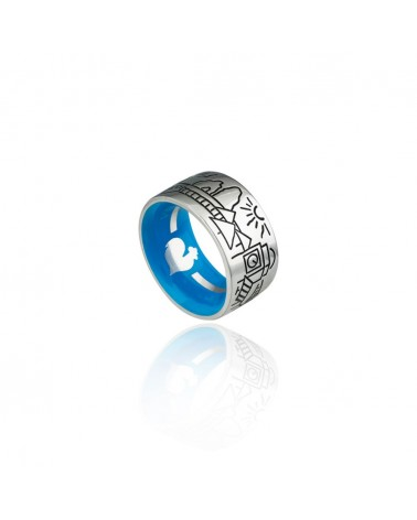 CHANTECLER Silver band ring
