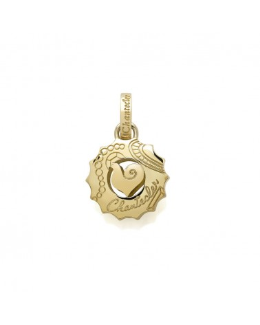 CHANTECLER Medium Suamèm logo pendant in yellow gold