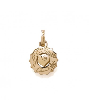 CHANTECLER Medium Suamèm logo pendant in rose gold