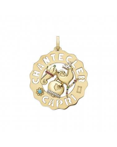 CHANTECLER Large logo pendant with symbols