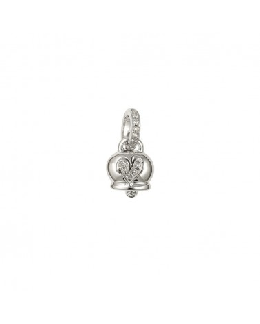 CHANTECLER Small Campanelle pendant in white gold