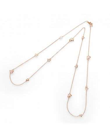 CHANTECLER Necklace in rose gold 93 cm and 13 roosters