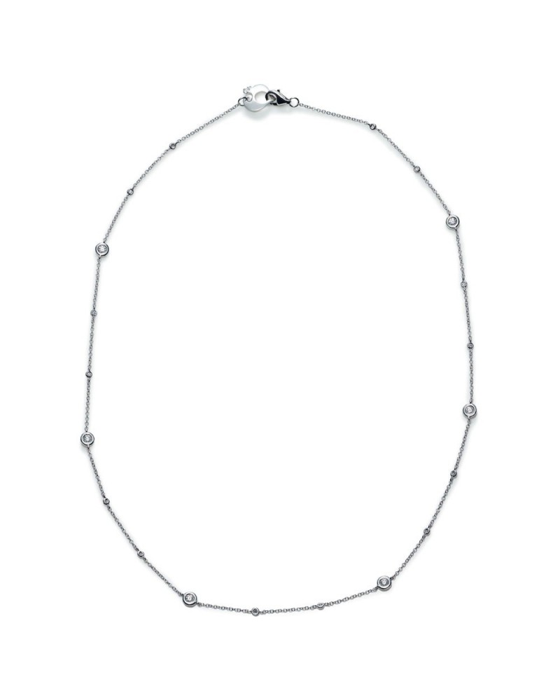 CHANTECLER Capri necklace in white gold and white diamonds
