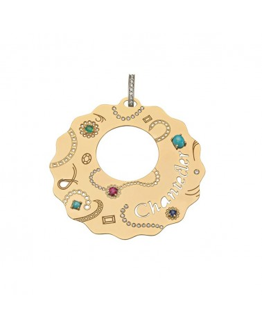 CHANTECLER Maxi pendant in yellow gold
