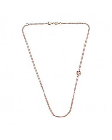 CHANTECLER Double necklace in rose gold