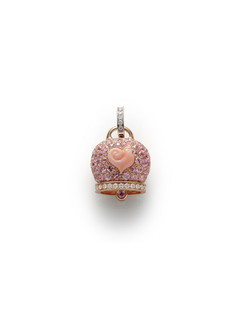 CHANTECLER Large campanella charm in rose gold
