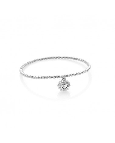 CHANTECLER Suamèm bracelet with micro logo in white gold