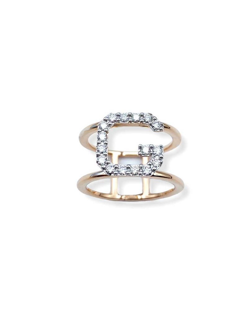 CAPECE GIOIELLIERI Ring LETTERS Collection Mod. G