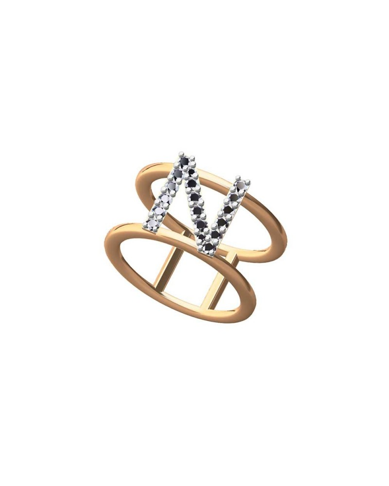 CAPECE GIOIELLIERI Ring LETTERS Collection Mod. N