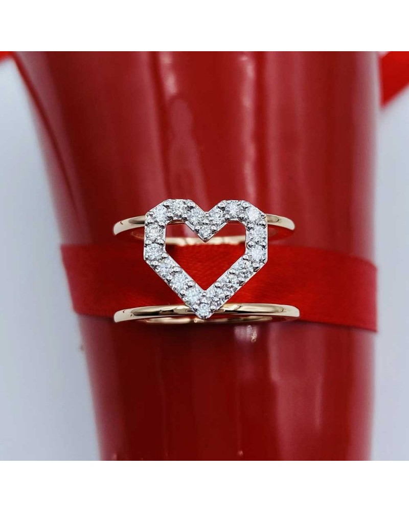 CAPECE GIOIELLIERI CUORE ring LETTERS Collection