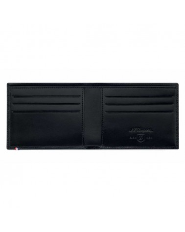 DUPONT 6 CREDIT CARDS HOLDER, LINE D LEATHER FIRE HEAD PATTERN