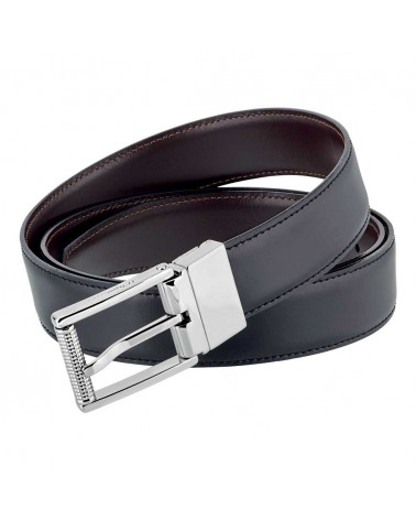 DUPONT Reversible Business Belt With Palladium Finish