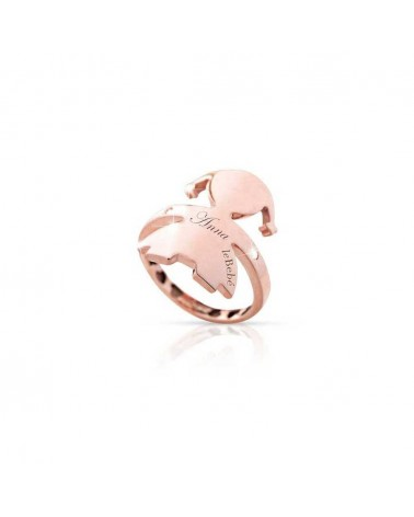 HUGS FEMALE RING ROSE GOLD